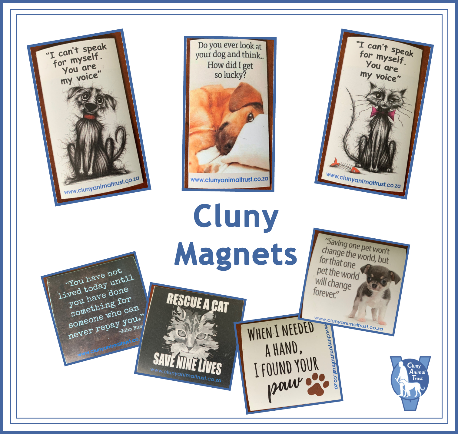 CLUNY BRANDED FRIDGE MAGNETS
